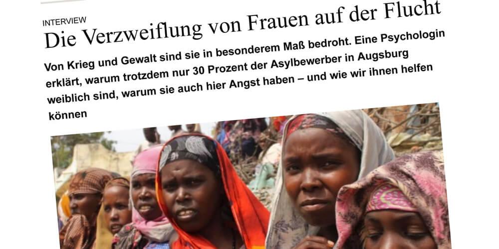Die Verzweiflung von Frauen auf der Flucht, Traumahilfe Netzwerk Augsburg und Schwaben
