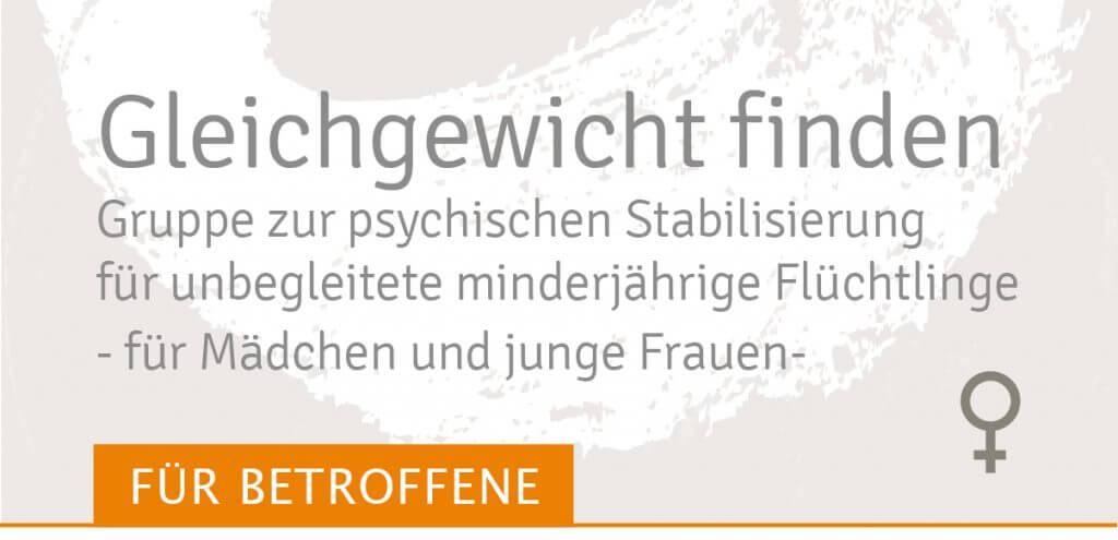 Gleichgewicht finden für Mädchen und junge Frauen Stabilisierungsgruppe Traumahilfe Netzwerk Augsburg und Schwaben